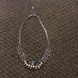 LOFT silver statement necklace
